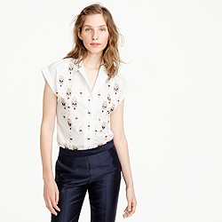 Collection Thomas Mason® for J.Crew embellished popover shirt
