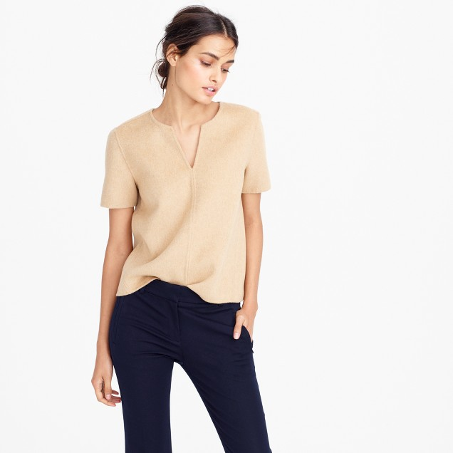 Collection double-faced cashmere top