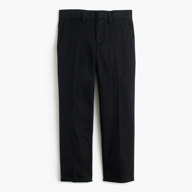Boys' black cotton twill Bowery pant in slim fit