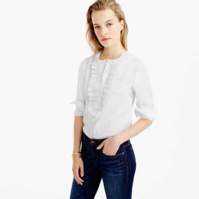 Collection Thomas Mason® for J.Crew ruffle-front popover