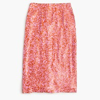 Collection sequin skirt in azalea rust