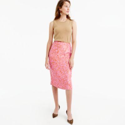 Collection sequin skirt in azalea rust