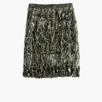 Collection sequin fringe skirt