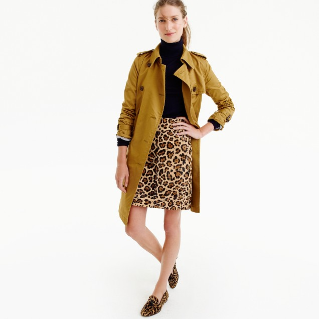 Collection skirt in leopard calf hair