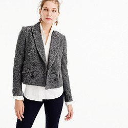 Double-breasted cropped blazer
