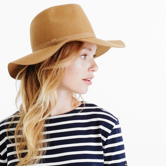 Wide-brimmed Italian wool-felt hat