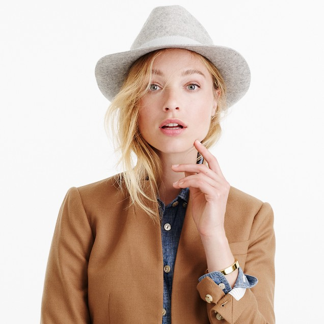 Short-brimmed Italian wool-felt hat