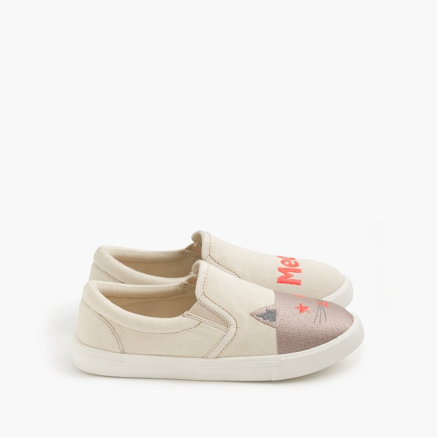 Girls' slide sneakers in meow