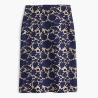Petite skirt in floral jacquard