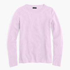 Italian cashmere long-sleeve T-shirt - SWEET LILAC
