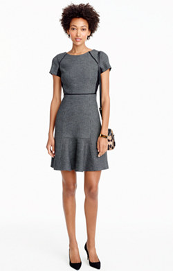 Checkered flutter dress