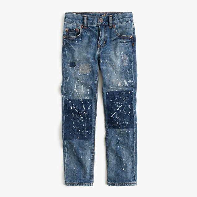 Boys' distressed well-worn wash jean in slim fit