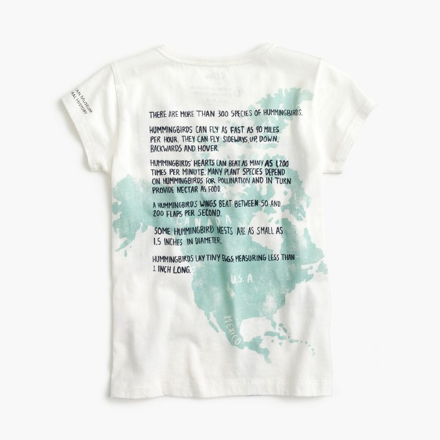 J.Crew for the American Museum of Natural History hummingbird tee