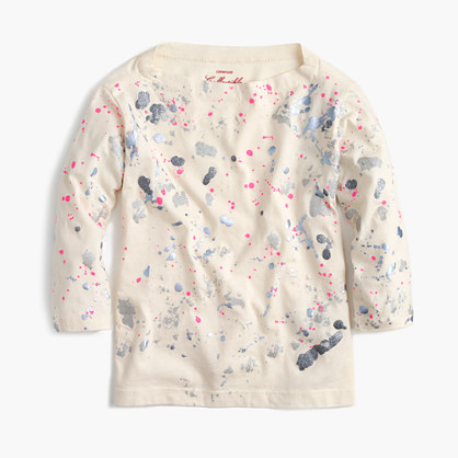 Girls' splatter paint T-shirt