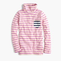 Girls' striped tissue turtleneck T-shirt