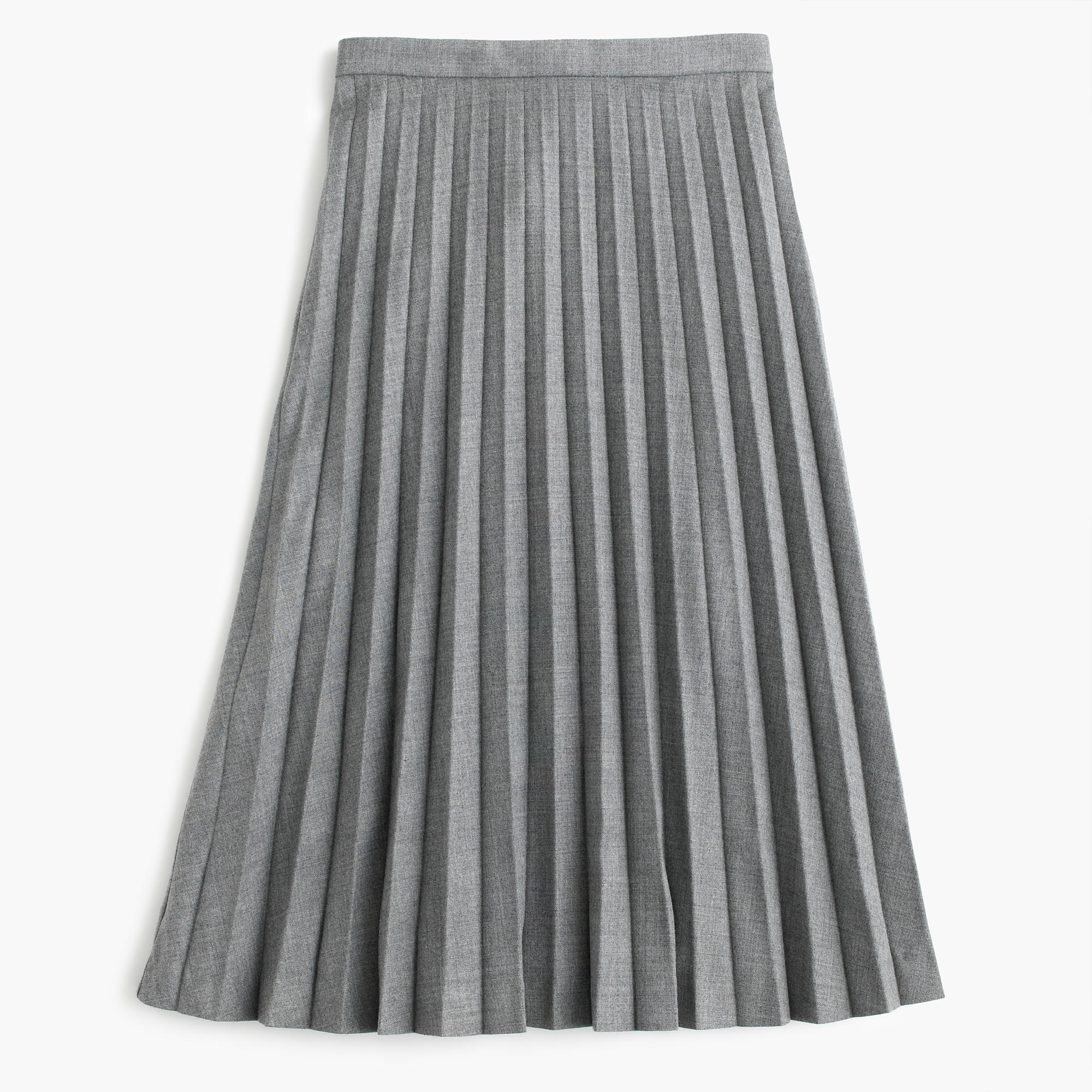 Pleated Midi Skirt In Wool : Women's Skirts | J.Crew