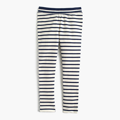 Girls' cozy everyday leggings in combo stripe