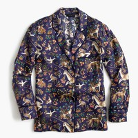 Collection Drake's® for J.Crew pajama top in Midnight Unicorn