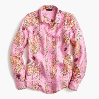 Collection Drake's® for J.Crew perfect shirt in Pink Bengal Tiger