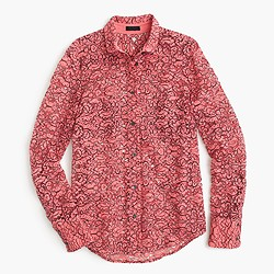 Collection shirt in French lace