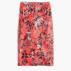 Collection slip skirt in Ratti® monkey print