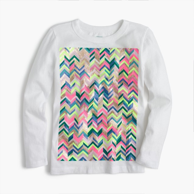 Girls' zigzag T-shirt