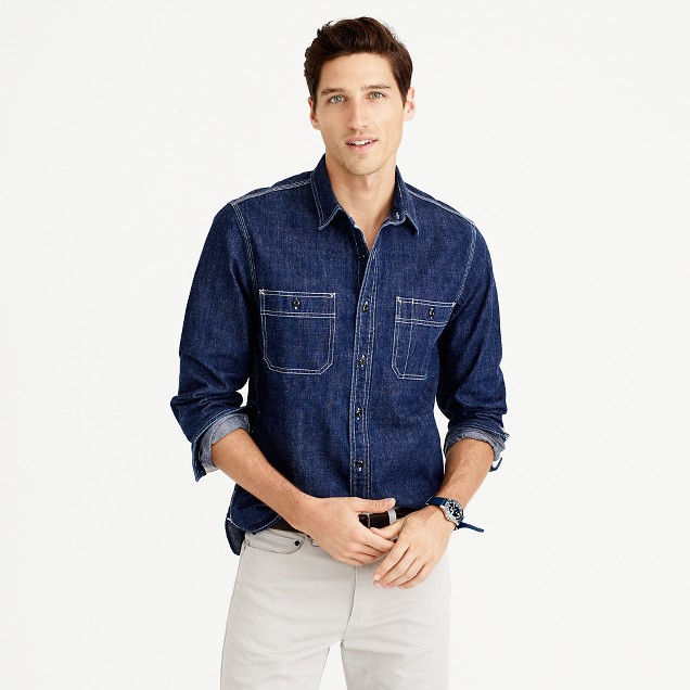 Wallace & Barnes selvedge denim shirt