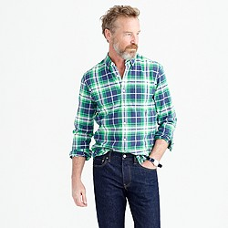 Slim oxford shirt in multicolor plaid