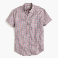 Secret Wash short-sleeve shirt in red tattersall