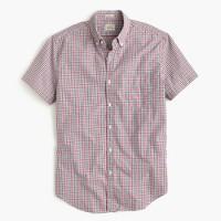 Secret Wash short-sleeve shirt in red tattersall