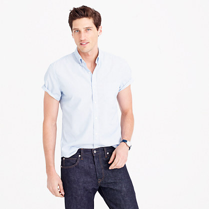 Secret Wash short-sleeve shirt in blue