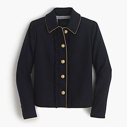 Lady jacket with ruffles