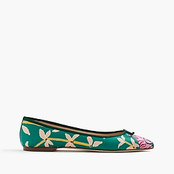 Collection Drake's for J.Crew Gemma flat