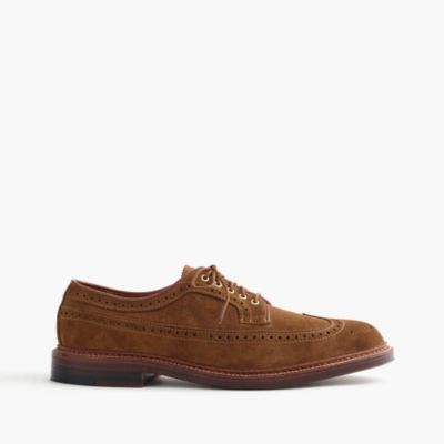 Alden® for J.Crew longwing bluchers in suede