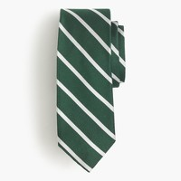 English silk repp tie in thin stripe