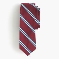 English silk tie in multistripe