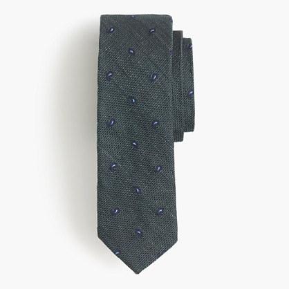 English silk tie in paisley foulard