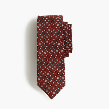 English wool tie in foulard