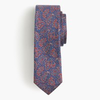 English silk tie in paisley