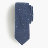 English wool-silk tie in polka dot