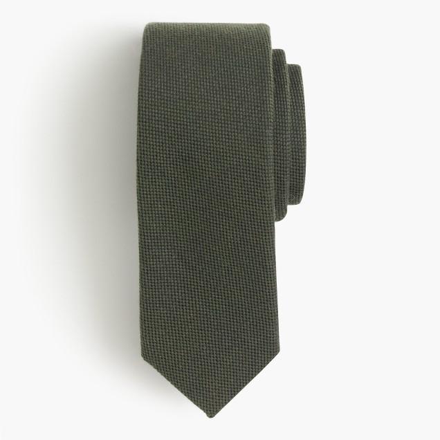 English wool-silk oxford tie