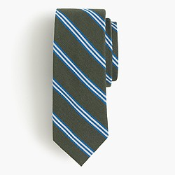 English wool-silk tie in multistripe