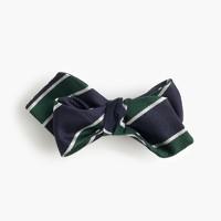 English silk repp bow tie