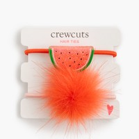 Girls' watermelon pom-pom hair ties