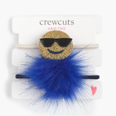 Girls' critter pom-pom hair ties
