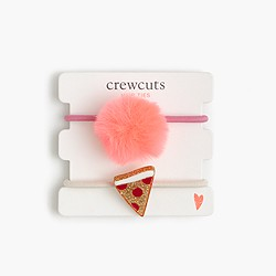 Girls' pom-pom critter hair ties
