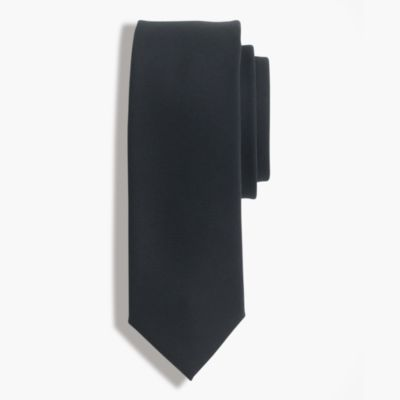 American wool tie in black