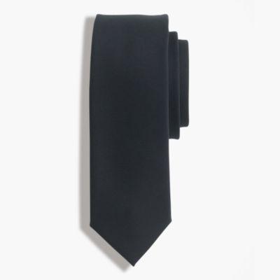 American wool tie in black