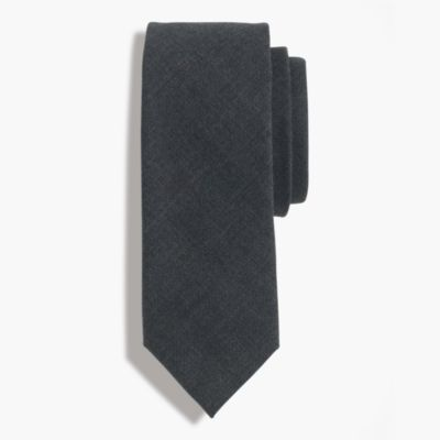 American wool tie in charcoal