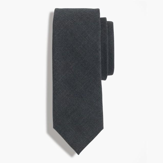 American wool tie in charcoal